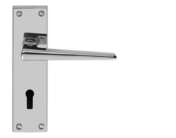 Carlisle Brass  Victorian Contemporary Polished Chrome, Satin Chrome Or Brass Door Handles - DL75 (sold in pairs)