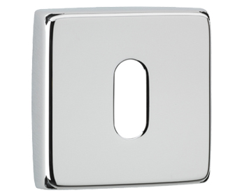 Carlisle Brass DND Square Standard Profile Escutcheon, Polished Chrome - DND003Q