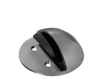 Eurospec Large Floor Mounted Shielded Door Stop, Polished Or Satin Stainless Steel - DSF1031