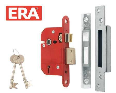 ERA 'Insurance Rated' 5 Lever Sash Locks - Silver Or Brass Finish - ERA 262/362
