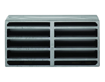 Eurospec Intumescent Air Transfer Vent Grille (Various Sizes), Silver - ES400