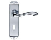 Zoo Hardware Fulton & Bray Arundel Door Handles On Backplate, Polished Chrome - FB021CP (sold in pairs)