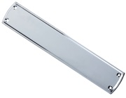 Zoo Hardware Fulton & Bray Stepped Finger Plate (382mm x 65mm), Polished Chrome - FB107CP