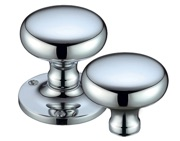 Zoo Hardware Fulton & Bray Mushroom Rim Door Knobs, Polished Chrome - FB201RCP (sold in pairs)