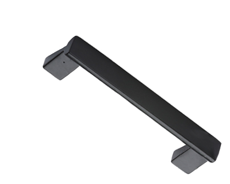 'Straight' Cupboard Pull Handle (96mm, 152mm OR 203mm), Smooth Black Iron - FB317