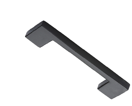 'Slim' Cupboard Pull Handle (96mm, 152mm OR 203mm), Smooth Black Iron - FB337