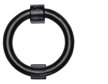 'Ring' Door Knocker (107mm Diameter), Smooth Black Iron - FB339