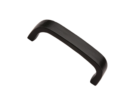 'D' Handle Cabinet Pull (96mm, 152mm, 203mm OR 254mm), Smooth Black Iron - FB341