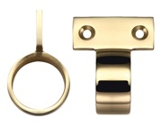 Zoo Hardware Fulton & Bray Vertical Fix Window Sash Ring, Polished Brass - FB36