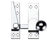 Zoo Hardware Fulton & Bray Quadrant Arm Sash Fastener, Polished Chrome - FB37CP