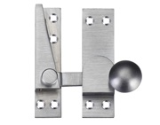 Zoo Hardware Fulton & Bray Quadrant Arm Sash Fastener, Satin Chrome - FB37SC