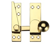 Zoo Hardware Fulton & Bray Quadrant Arm Sash Fastener, Polished Brass - FB37