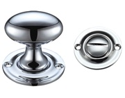 Zoo Hardware Fulton & Bray Oval Turn & Release (42mm), Polished Chrome - FB42CP
