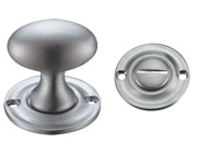 Zoo Hardware Fulton & Bray Oval Turn & Release (42mm), Satin Chrome - FB42SC