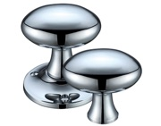 Zoo Hardware Fulton & Bray Oval Rim Door Knobs, Polished Chrome - FB500RCP (sold in pairs)