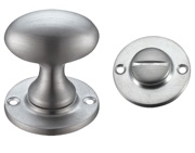 Zoo Hardware Fulton & Bray Oval Turn & Release (40mm), Satin Chrome - FB54SC