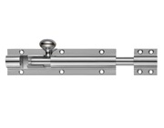 Zoo Hardware Fulton & Bray Architectural Barrel Bolt (4, 6, 8, 12, 18 OR 24 Inch), Nickel Plate - FB60NP