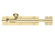 Zoo Hardware Fulton & Bray Architectural Barrel Bolt (4, 6, 8, 12, 18 OR 24 Inch), Polished Brass - FB60