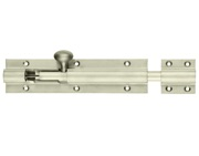 Zoo Hardware Fulton & Bray Architectural Heavy Duty Barrel Bolt (8, 12, 18, 24 OR 36 Inch), Nickel Plate - FB75NP