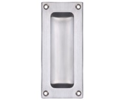 Zoo Hardware Fulton & Bray Rectangular Flush Pull, Satin Chrome - FB90SC