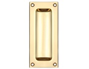 Zoo Hardware Fulton & Bray Rectangular Flush Pull, Polished Brass - FB90