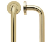 Zoo Hardware Fulton & Bray D Pull Handles (19mm Bar Diameter), Polished Brass - FBD225B