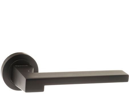 Atlantic 'Ginevra' Forme Designer Lever On Round Contempo Rose, Matt Black - FCR430MB (sold in pairs)