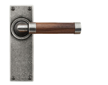 Finesse 'Milton Walnut' Door Handle, Wood & Pewter - FD144 (Sold In Pairs)