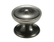 Finesse Felton 2-Part Cabinet Knob Including Backplate (44mm Diameter), Pewter - FD223