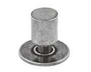 Finesse Farrow Cabinet Knob Includes Backplate (20mm Diameter), Pewter - FD290