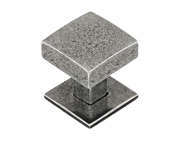 Finesse Healey Cabinet Knob & Backplate (30mm x 30mm OR 40mm x 40mm), Pewter - FD572