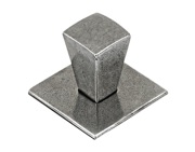 Finesse Taper Cabinet Knob & Backplate (20mm x 20mm OR 30mm x 30mm), Pewter - FD576