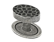 Finesse Sheraton Cabinet Knob Includes Backplate (39mm Diameter), Pewter - FD580