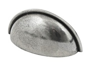 Finesse Chester Cup Handles (76mm C/C), Pewter Finish - FD582