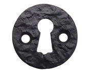 Zoo Hardware Foxcote Foundries Round Escutcheon, Black Antique - FF05