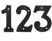 Zoo Hardware Foxcote Foundries 0-9 Numerals (102mm), Black Antique - FFN
