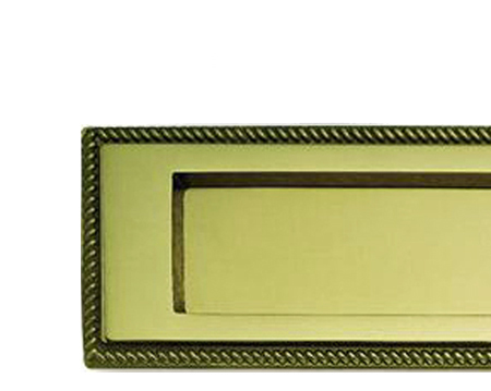 Georgian Letter Plates, (Various Sizes), Polished Brass - FG7