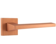 Atlantic Lorena Forme Designer Lever On Square Minimal Rose, Urban Satin Copper - FMS136USC (sold in pairs)