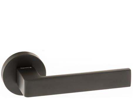 Atlantic 'Asti' Forme Designer Lever On Round Minimal Rose, Matt Black - FMR254MB (sold in pairs)