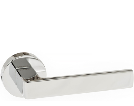 Atlantic 'Asti' Forme Designer Lever On Round Minimal Rose, Polished Chrome - FMR254PC (sold in pairs)