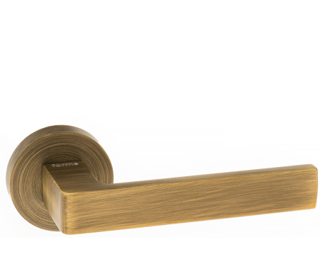 Atlantic 'Asti' Forme Designer Lever On Round Minimal Rose, Yester Bronze - FMR254YB (sold in pairs)