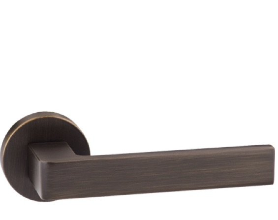 Atlantic 'Asti' Forme Designer Lever On Round Minimal Rose, Urban Bronze - FMR254UB (sold in pairs)