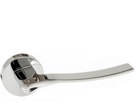 Atlantic 'Olimpia' Forme Designer Lever On Round Minimal Rose, Polished Chrome - FMR280PC (sold in pairs)