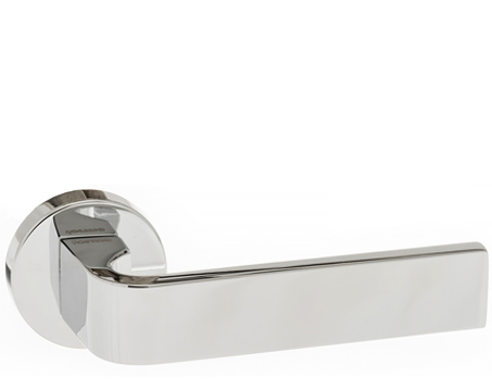 Atlantic 'Monza' Forme Designer Lever On Round Minimal Rose, Polished Chrome - FMR413PC (sold in pairs)