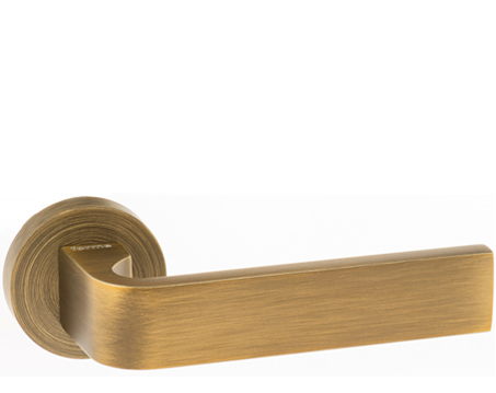 Atlantic 'Monza' Forme Designer Lever On Round Minimal Rose, Yester Bronze - FMR413YB (sold in pairs)