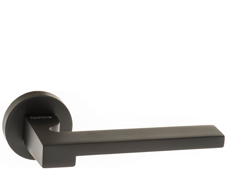 Atlantic 'Ginevra' Forme Designer Lever On Round Minimal Rose, Matt Black - FMR430MB (sold in pairs)