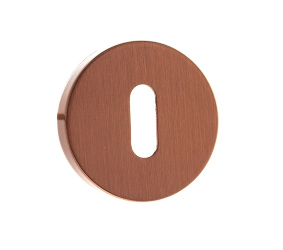 Atlantic Forme Standard Profile Escutcheon On Minimal Round Rose, Urban Satin Copper - FMRKUSC (Sold In Singles)  None