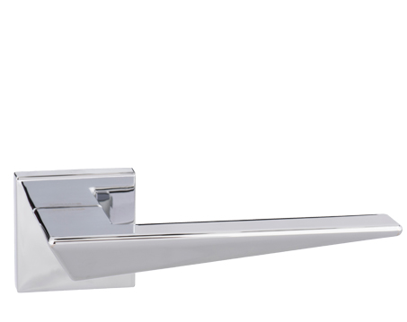 Atlantic 'Naxos' Forme Designer Lever On Square Minimal Rose, Polished Chrome - FMS215PC (sold in pairs)