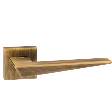Atlantic 'Naxos' Forme Designer Lever On Square Minimal Rose, Yester Bronze  - FMS215YB (sold in pairs)