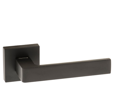 Atlantic 'Asti' Forme Designer Lever On Square Minimal Rose, Matt Black - FMS254MB (sold in pairs)